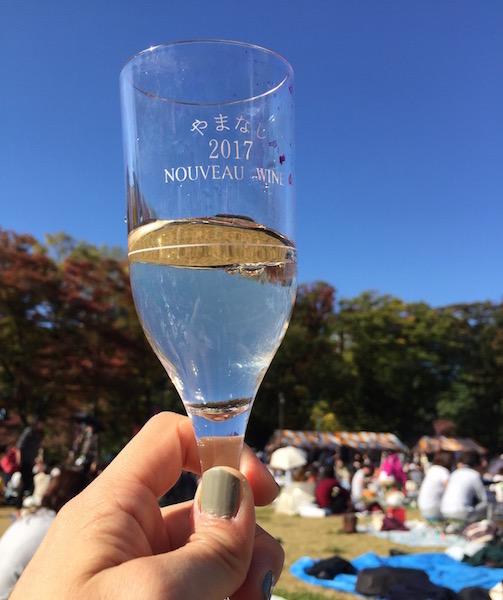 山梨ヌーボーまつり2017のグラス