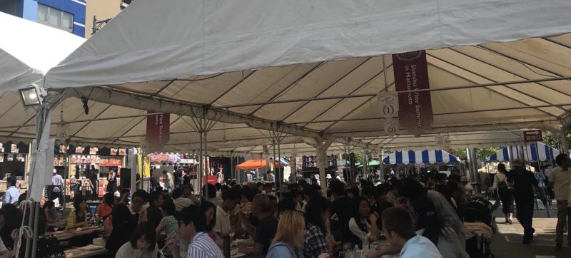 信州ワインサミット2018の会場の様子